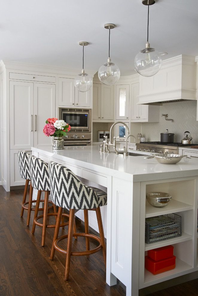 Schrock Cabinets for a Transitional Kitchen with a Kitchen Storage and Greenhaven Road Rye Ny Shingle Style by Studio Dearborn