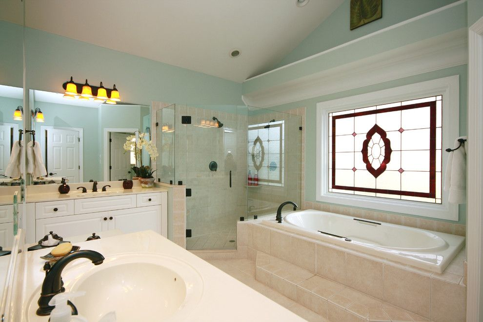 Sea Salt Sherwin Williams for a Traditional Bathroom with a White Cabinet and Sterling Pointe Redesign by Jamie Mcneilis, Accredited Staging Professional