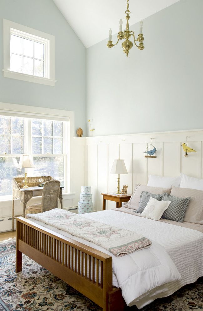 Sea Salt Sherwin Williams for a Traditional Bedroom with a Decorative Pillows and Forest View Residence Bedroom by Lda Architecture & Interiors