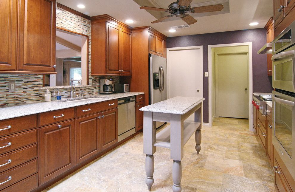 Sensa Granite for a Contemporary Kitchen with a Glass Iridescent Backsplash and Dallas/ Contemporary by the Kitchen Source