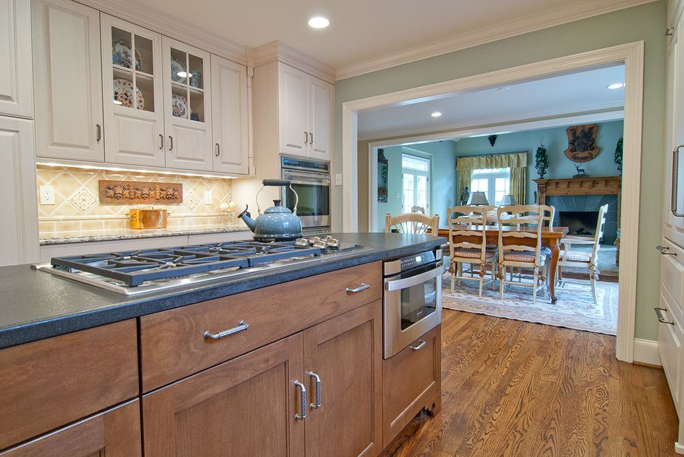 Sensa Granite for a Traditional Kitchen with a Microwave on Island and Dallas/ Traditional by the Kitchen Source