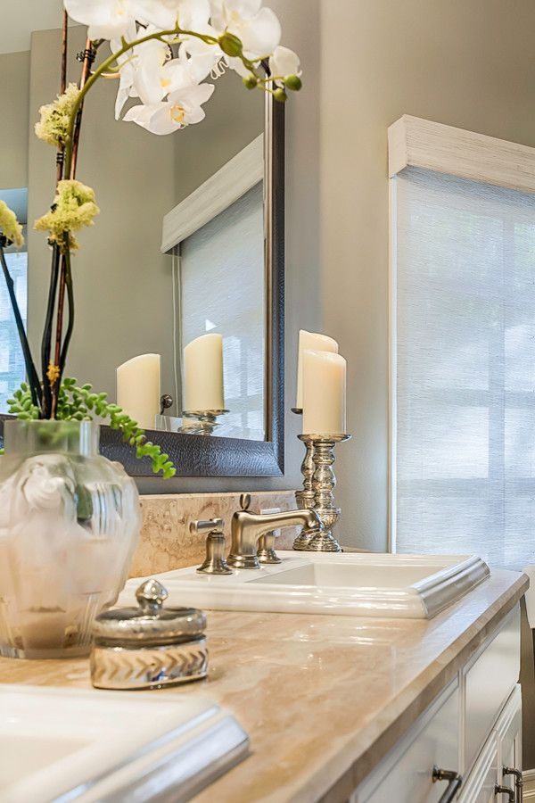 Sensa Granite for a Transitional Bathroom with a Vanity and Master Bath Vanity by Ferguson Bath, Kitchen & Lighting Gallery