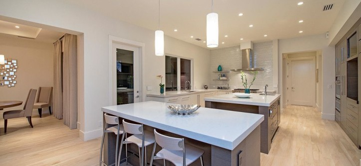 Sepulveda Building Materials for a Transitional Kitchen with a Recessed Lighting and Naples Beach Coastal Retreat Kitchen by 41 West
