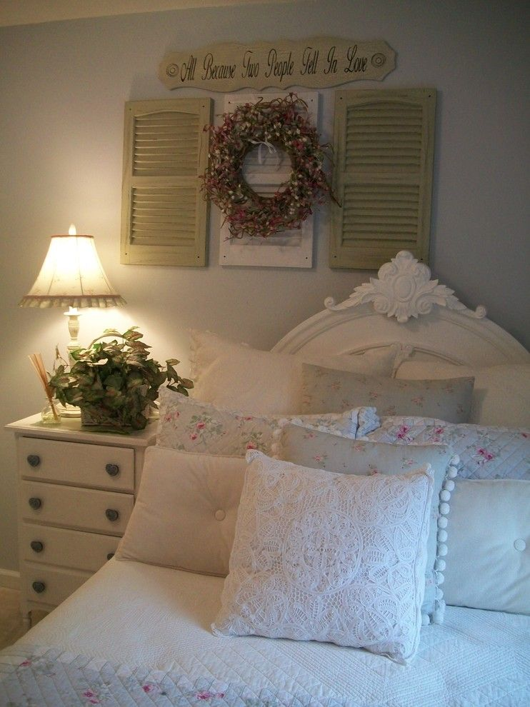Shabby Sheek for a Shabby-Chic Style Bedroom with a White and ~Guest Room~ by Melanie Hays