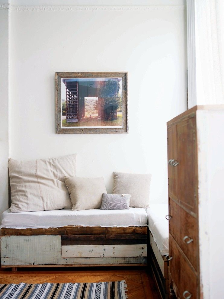 Shabby Sheek for a Shabby-Chic Style Living Room with a Antique and Modern Vintage by Emily Chalmers by Emily Chalmers | Caravan Style Ltd.