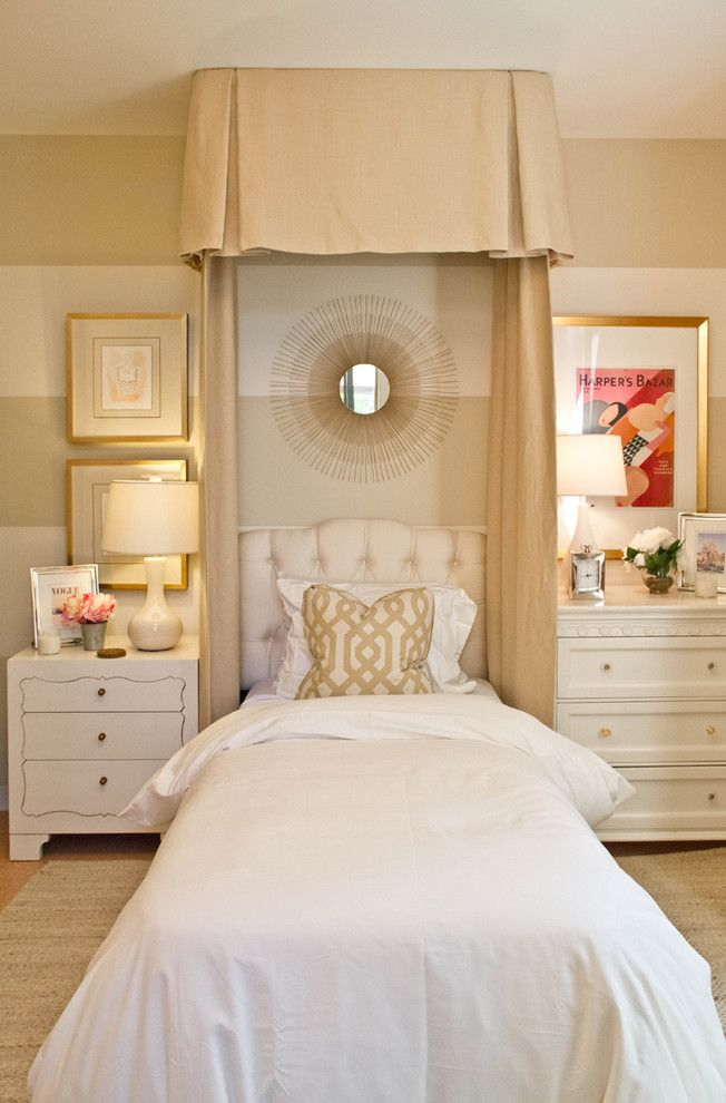Shabby Sheek for a Traditional Bedroom with a White Bedding and Jessica Bennett Interiors by Erika Bierman Photography