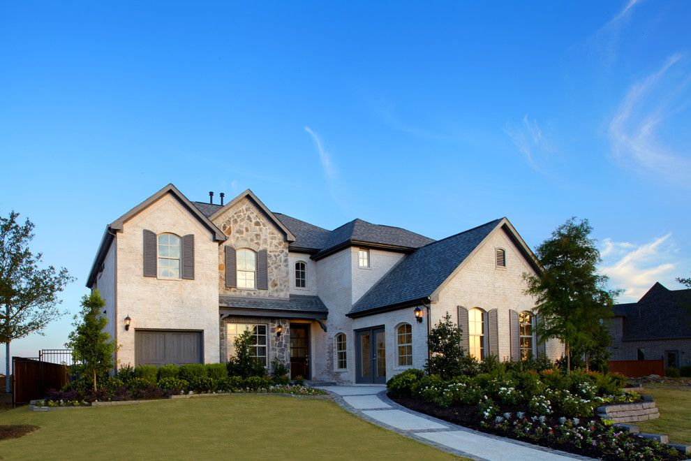 Shaddock Homes for a Traditional Exterior with a St Paul Texas and Inspiration | Saxony by Shaddock Homes by Shaddock Homes