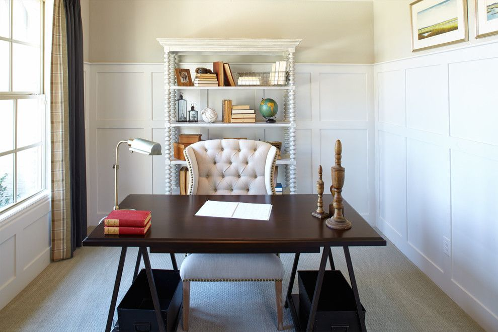 Shaddock Homes for a Traditional Home Office with a Home Office and Inspiration | Saxony by Shaddock Homes by Shaddock Homes
