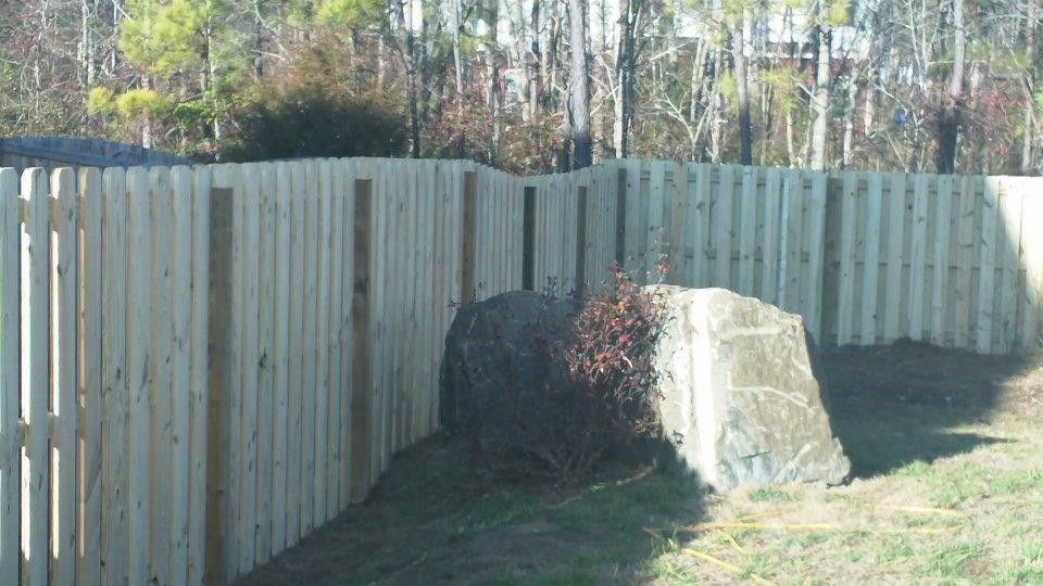 Shadow Box Fence for a  Spaces with a  and Shadow Box Fence by Apex Fence Builders of Raleigh