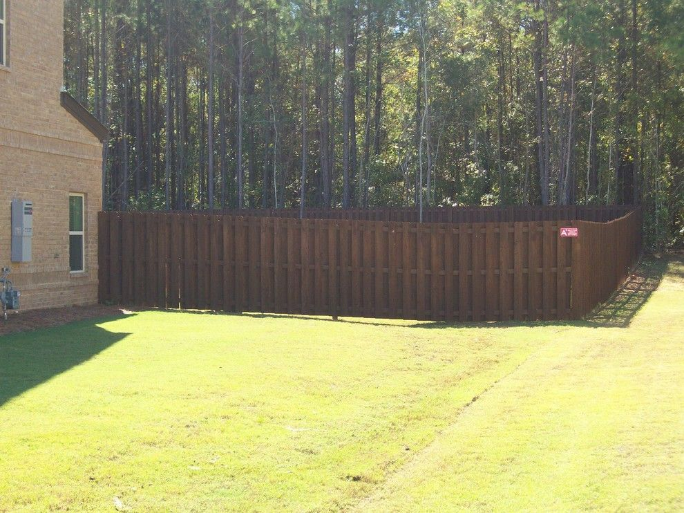 Shadow Box Fence for a  Spaces with a  and Stained Shadow Box Privacy Fence by a Plus Quality Fence & Deck Inc
