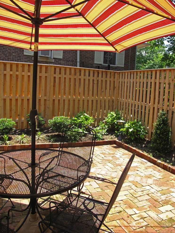 Shadowbox Fence for a Traditional Patio with a Shade Tollerant Plants and Wilmington Residence by B.demichele Inc.