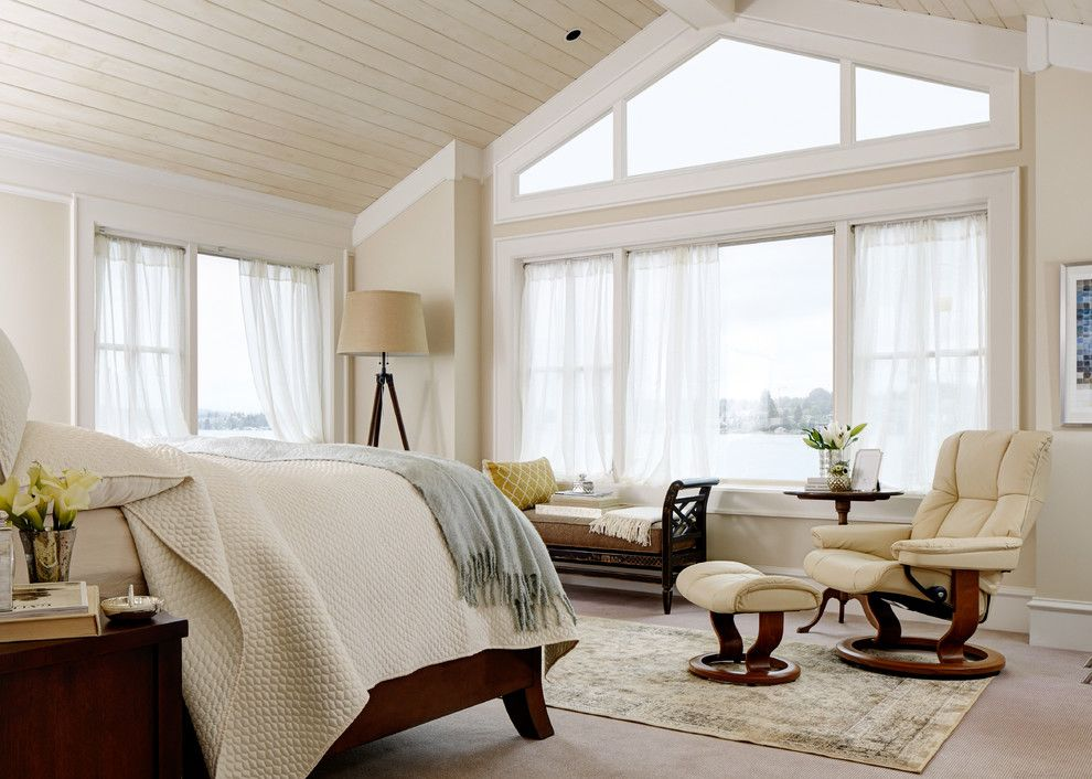 Shaker Beige for a Contemporary Bedroom with a Vaulted Ceiling and Stressless Design Gallery by Stressless