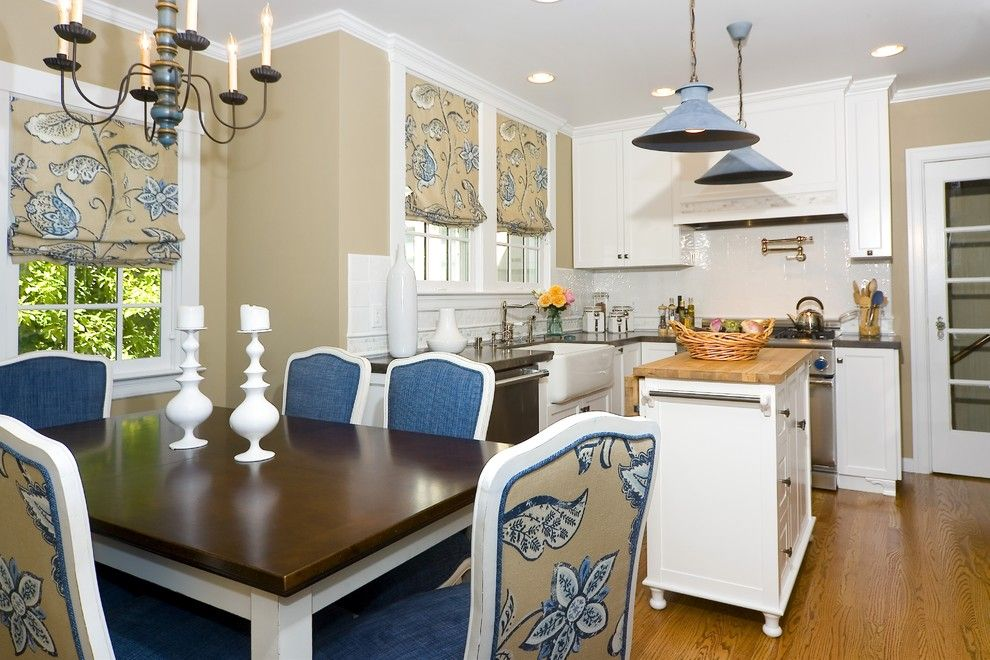 Shaker Beige for a Traditional Kitchen with a Hardwood Floors and Burlingame Residence Two by Amoroso Design