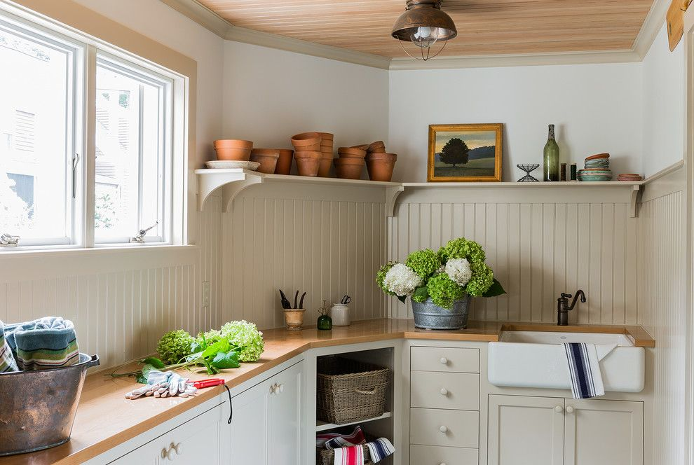 Shaker Beige for a Traditional Shed with a Beadboard Ceiling and Before & After   New Old House by Carpenter & Macneille