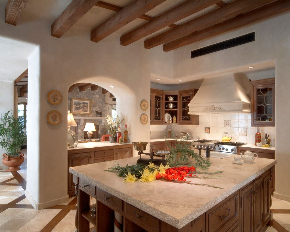 Shea Homes Az for a Southwestern Kitchen with a Natural Stone and Custom Home Desert Mountain Scottsdale Az by Facings of America, Inc