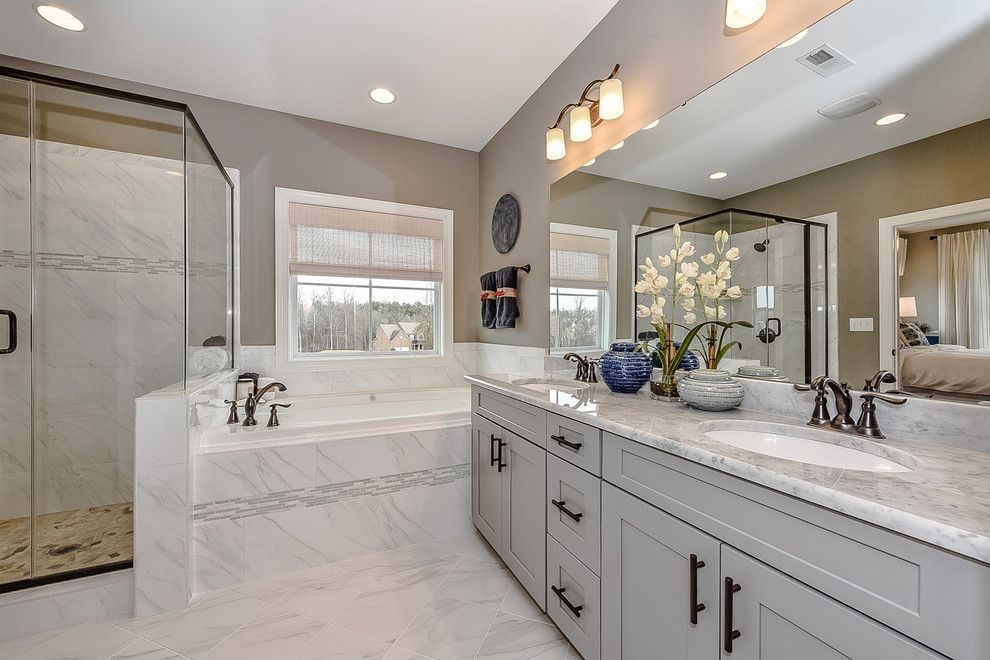 Shea Homes Az for a Transitional Bathroom with a Detached Townhome and Hanna Model at Sonoma by Shea Homes Charlotte