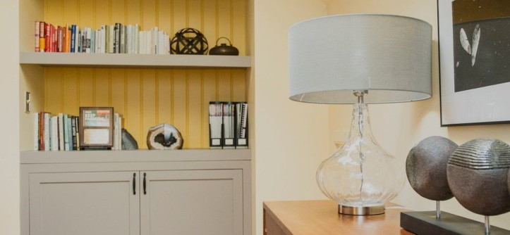 Shelf Genie for a Modern Home Office with a Streamlined and Chatham, NY Home Office by Bespoke Decor