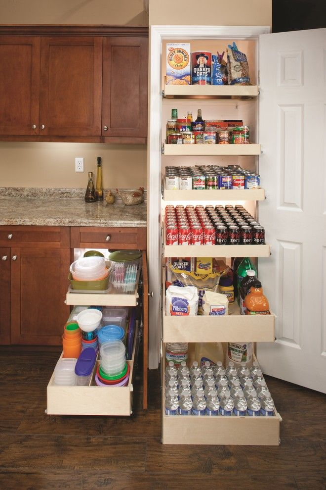 Shelf Genie for a  Spaces with a Custom Roll Out Shelves and Shelfgenie Pull Out Pantry Shelves by Shelfgenie of Cincinnati