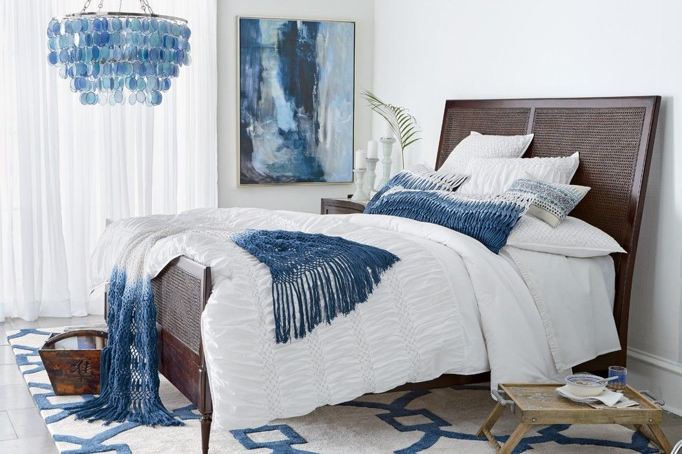 Sherrill Furniture for a Contemporary Bedroom with a Wall Art and Horchow by Horchow