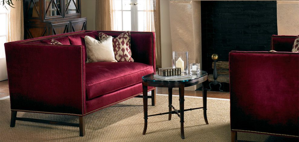 Sherrill Furniture for a Traditional Living Room with a Square Back Sofa and Sherrill Furniture (Vendor) by Good's Home Furnishings