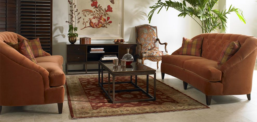 Sherrill Furniture for a Transitional Living Room with a Coffee Table and Sherrill Furniture Living Rooms by Louisiana Furniture Gallery