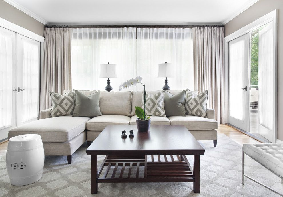 Sherwin Williams Amazing Gray for a Traditional Living Room with a Orchid and Lavista Park Renovation & Interiors by Niki Papadopoulos