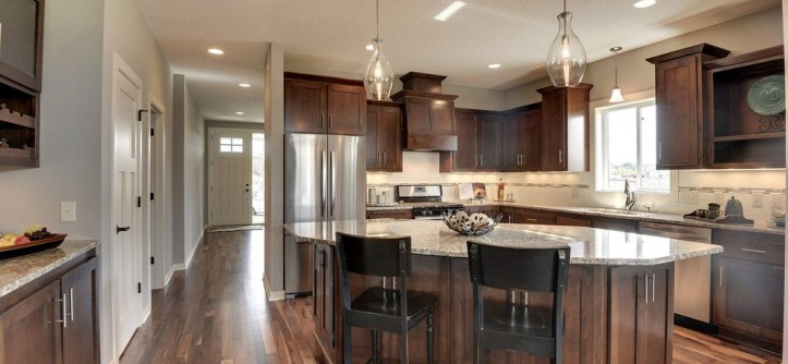 Sherwin Williams Anew Gray for a Transitional Kitchen with a Grey and the Trillium II by Iverson Homes