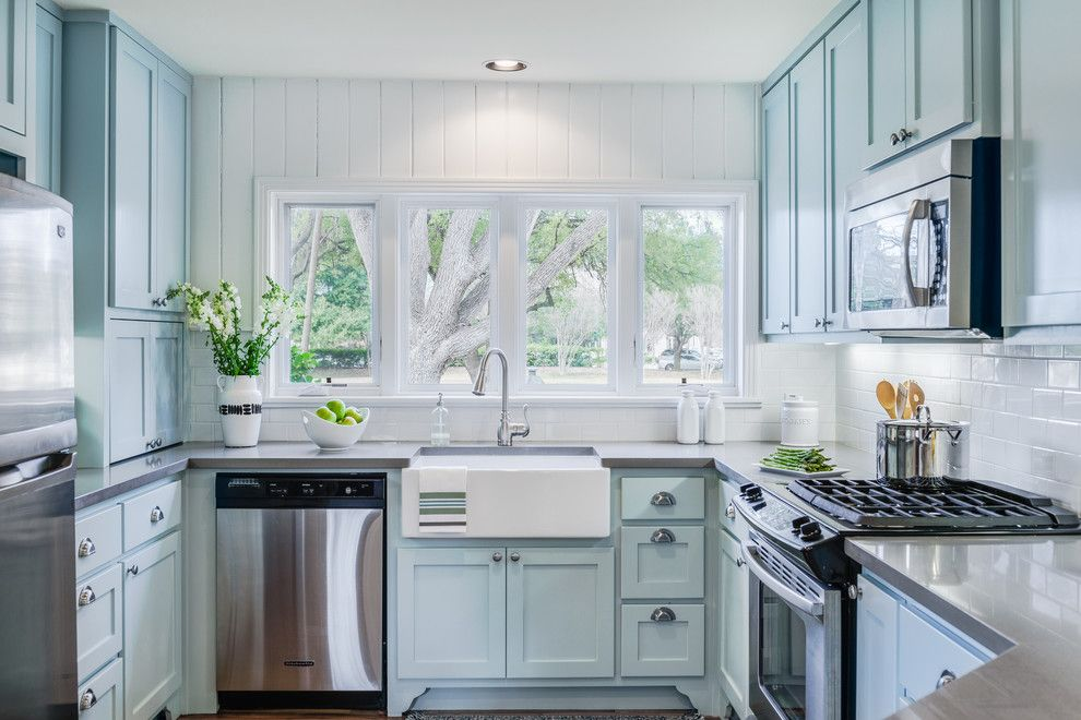 Sherwin Williams Cabinet Paint for a Traditional Kitchen with a Microwave Over Range and Contemporary Mid Century Kitchen Remodel by J. Bryant Boyd, Design Build