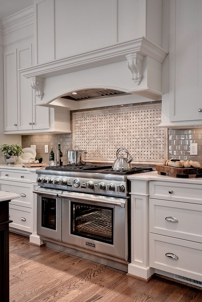 Sherwin Williams Dover White for a Transitional Kitchen with a Large Island and Transitional Kitchen   Williamsburg Va by Ferguson Bath, Kitchen & Lighting Gallery