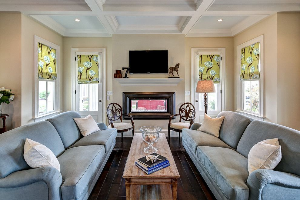 Sherwin Williams Dovetail for a Traditional Living Room with a Cottage and Lot 855 @ Norton Commons by Jh Designs