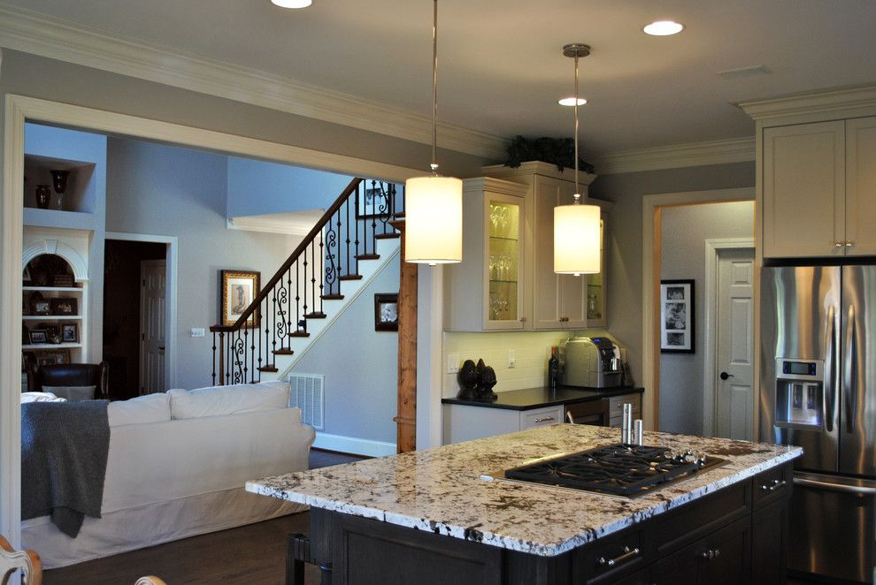 Sherwin Williams Duration for a Traditional Kitchen with a White Delicatus and Tony & Cara's Kitchen by Sterling Construction, Inc.