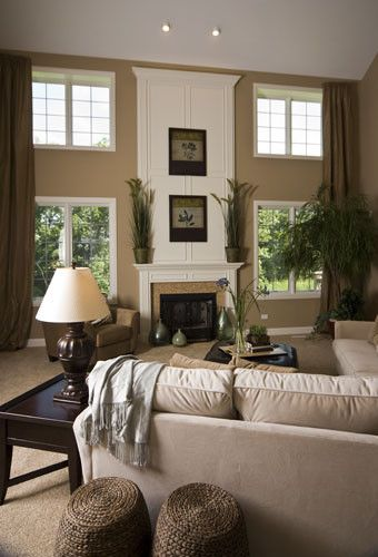 Sherwin Williams Latte For A Eclectic Family Room With A Transitional And  Model Home Design By Part 98