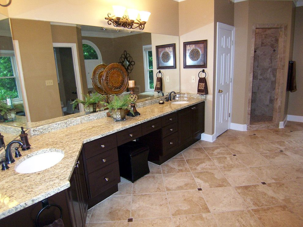 Sherwin Williams Latte for a Traditional Bathroom with a Home Staging Atlanta and Master Bath Renovation by Divine Redesigns, Home Staging and Redesign
