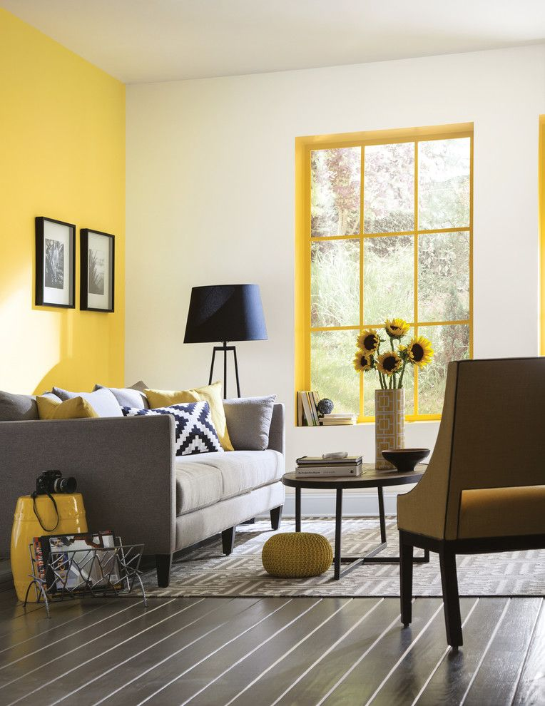 Sherwin Williams Peppercorn for a Contemporary Living Room with a Contemporary and Sherwin Williams by Sherwin Williams