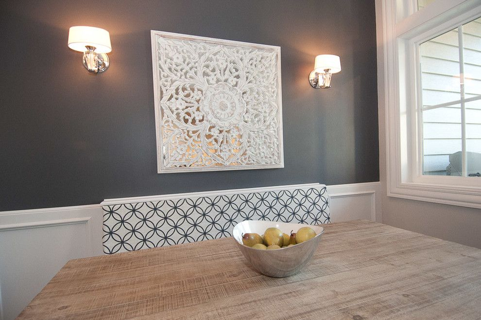 Sherwin Williams Peppercorn for a Traditional Dining Room with a White Windows and Legacy by Dc Fine Homes & Interiors