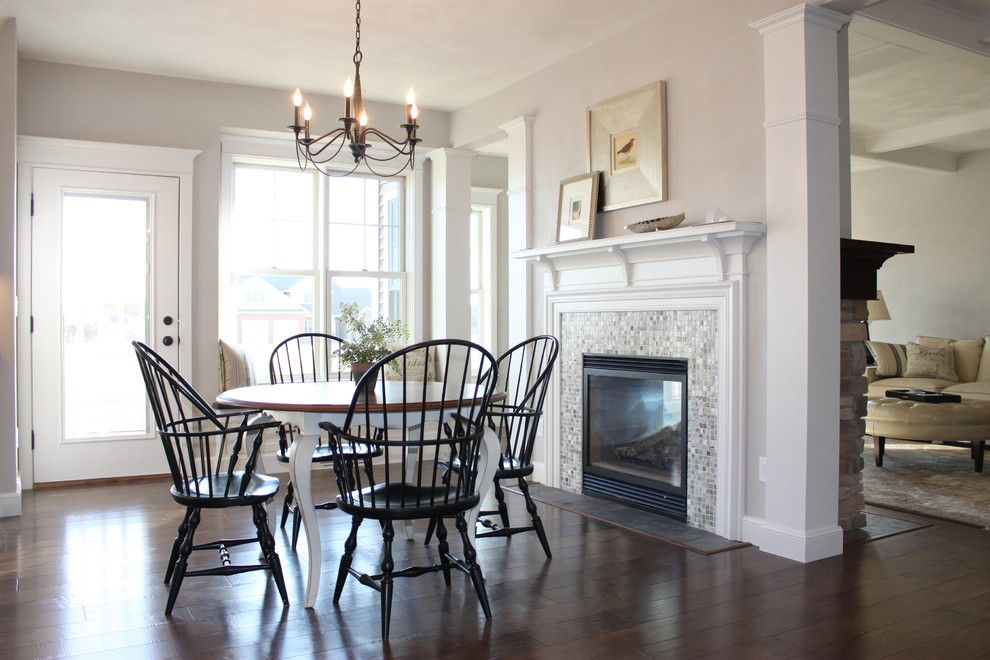Sherwin Williams Pure White for a Traditional Dining Room with a Glass Door and 2012 Vhba   Winter Wonderland of Homes by Bradd W. Syring Llc   Custom Homes
