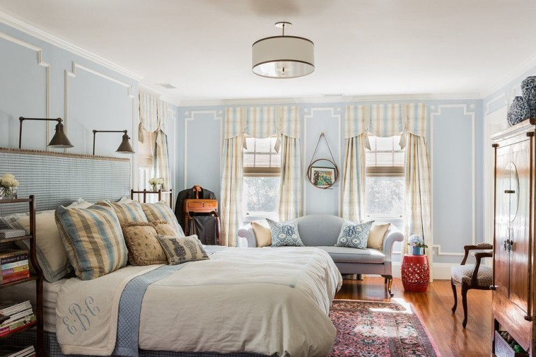 sherwin williams repose gray for a traditional bedroom