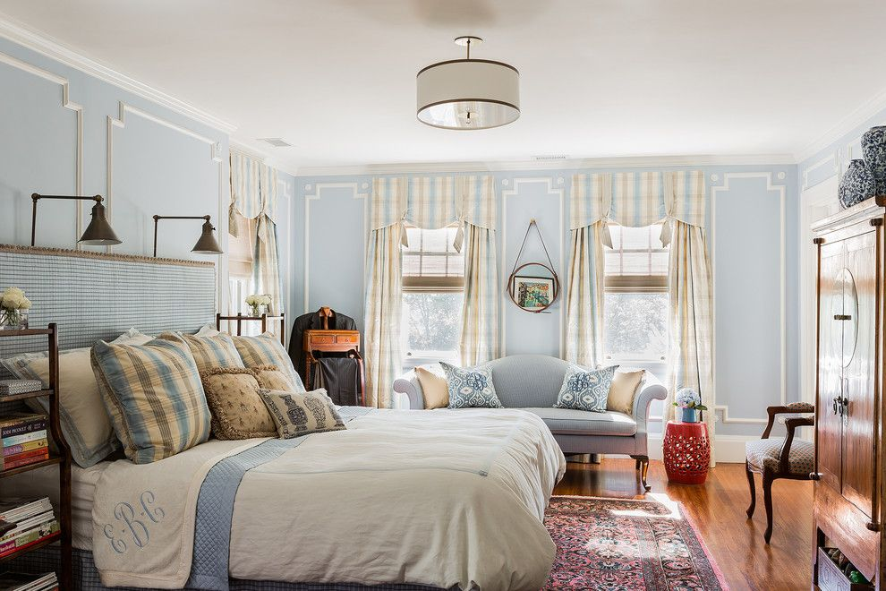 Sherwin Williams Repose Gray for a Traditional Bedroom with a Oriental Rug and Chestnut Hill   Comm by Elizabeth Home Decor & Design, Inc.
