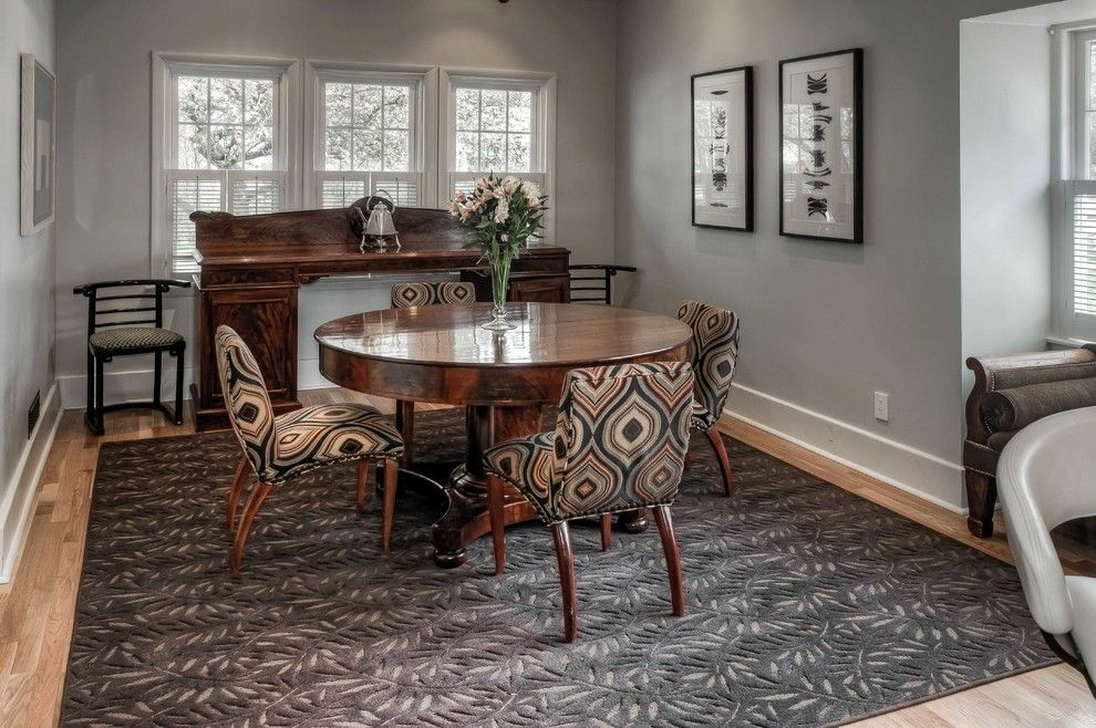 Sherwin Williams Repose Gray for a Traditional Dining Room with a Upholstered Chairs and Omaha Home by Lk Design