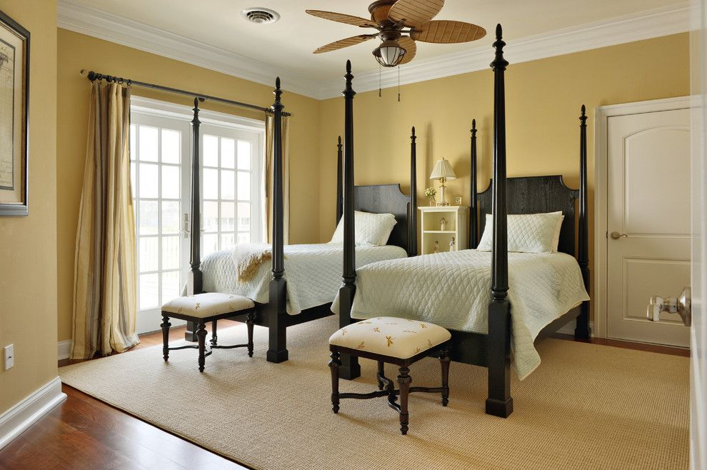Sherwin Williams Silvermist For A Traditional Bedroom With A Shared Bedroom  And Twin Bedroom By Echelon Part 51