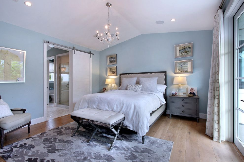 Sherwin Williams Silvermist for a Transitional Bedroom with a Transitional and Broadway by Brandon Architects, Inc.