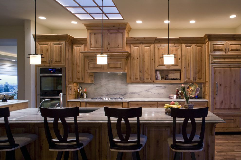 Sherwin Williams Stain Colors for a Traditional Kitchen with a Recessed Lighting and Kitchen by Kaufman Homes, Inc.