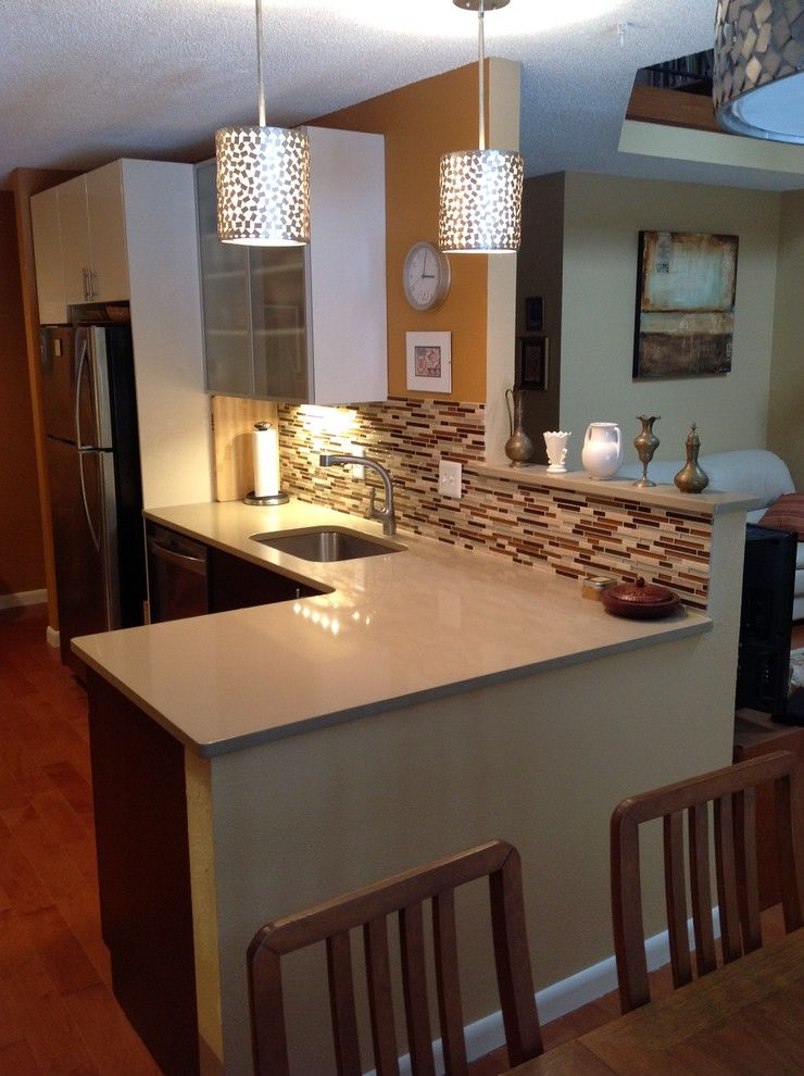 Shiloh Cabinetry for a Contemporary Kitchen with a Contemporary Kitchen and Small Contemporary by Avalon Kitchen
