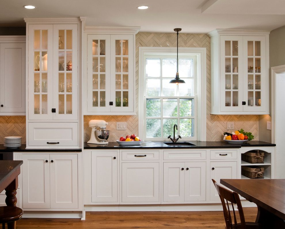 Shiloh Cabinets for a Traditional Kitchen with a Custom Tile ...