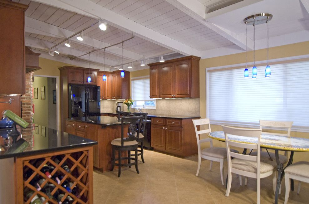 Shiloh Cabinets for a Traditional Kitchen with a Kitchen Table and Case Design/remodeling, Inc. by Case Design/remodeling, Inc.