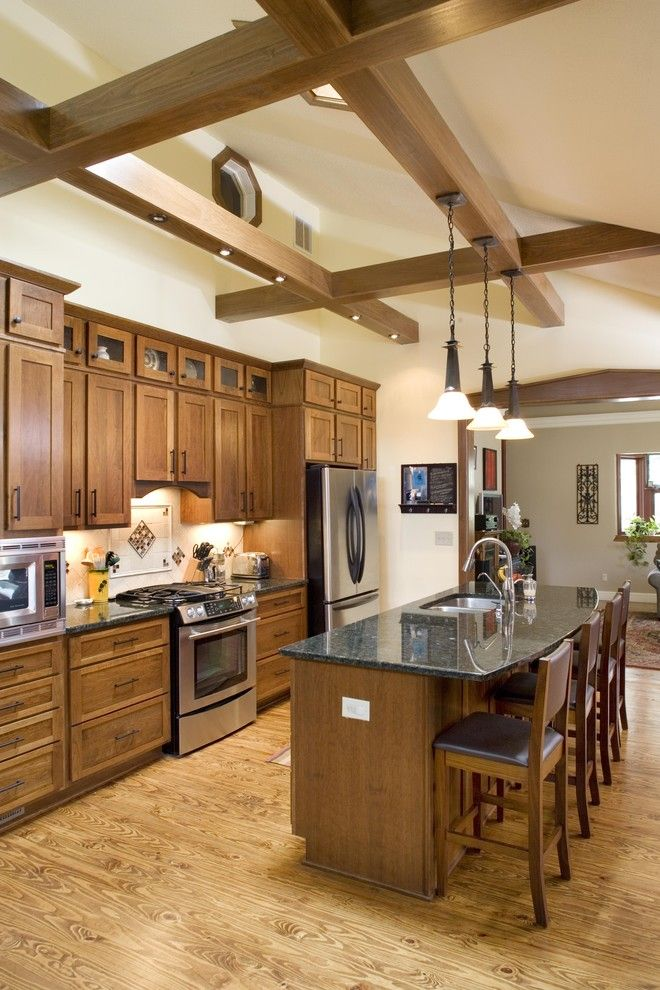 Shiloh Cabinets for a Traditional Kitchen with a Recessed Lighting and Kitchen by the Lifestyle Group Inc.