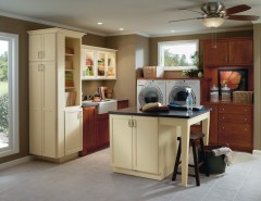 Shiloh Cabinets for a Traditional Laundry Room with a Wood and Diamond Shiloh Laundry Cabinets by MasterBrand Cabinets, Inc.