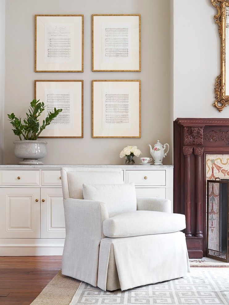 Shophouse for a Traditional Living Room with a Corby Chair and Rittenhouse Historic by Shophouse