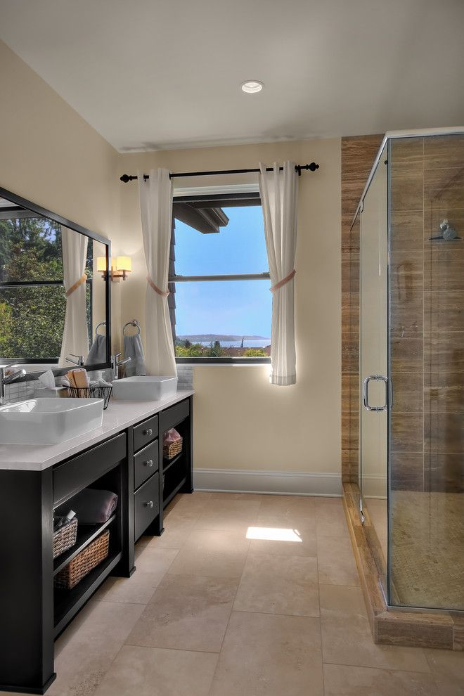 Shoreline Flooring for a Traditional Bathroom with a Vanity and Shoreline Traditional by Rw Anderson Homes