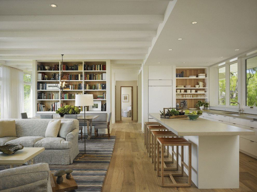 Shoreline Flooring for a Transitional Kitchen with a Recessed Lights and Harbert Residence by Marvin Windows and Doors